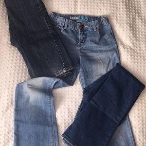 Bundle of girls size 10 bootcut blue jeans